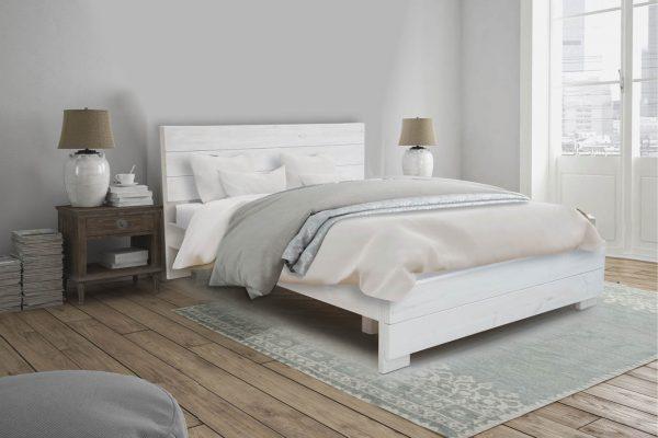 מיטה עשויה עץ אורן מלא חזק וטוב המשופר בצבע המיוחד לעץ האורן חזק וטוב