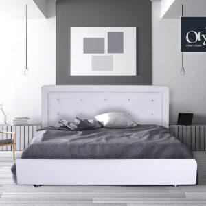 מיטה מרופדת בעיצוב חדשני , ראש מעוצב קפיטונג' עם כפתורי קריסטל