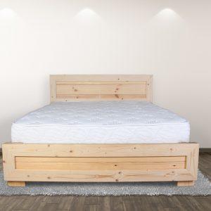 מיטה מעוצבת מעץ אורן מלא + מזרן עם קפיצים מתנה